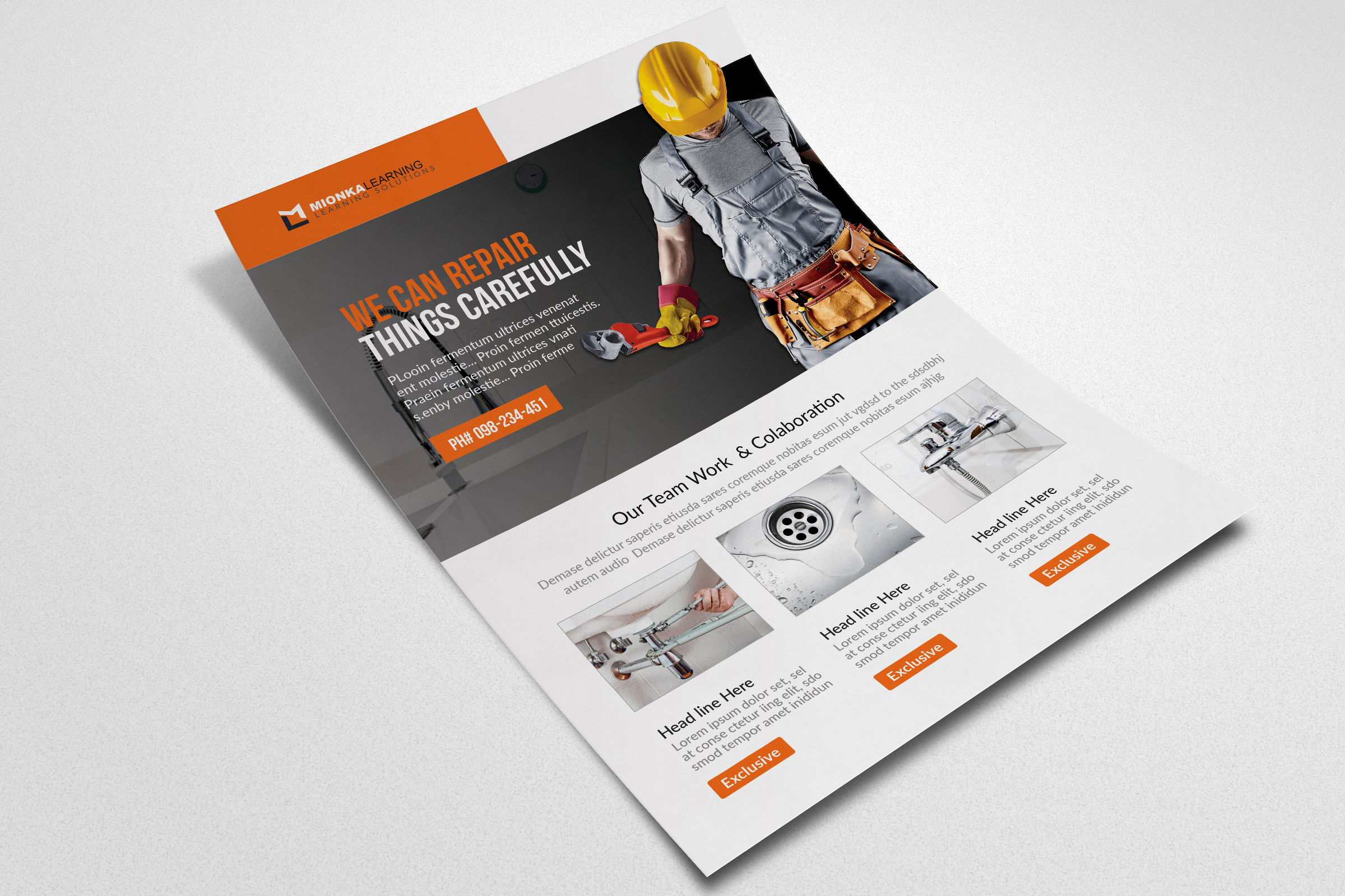 Handyman & Plumber Services Flyer example image 2
