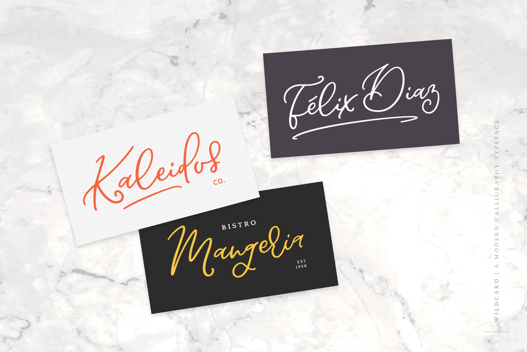 Wildcard | A Modern Calligraphy Script example image 4