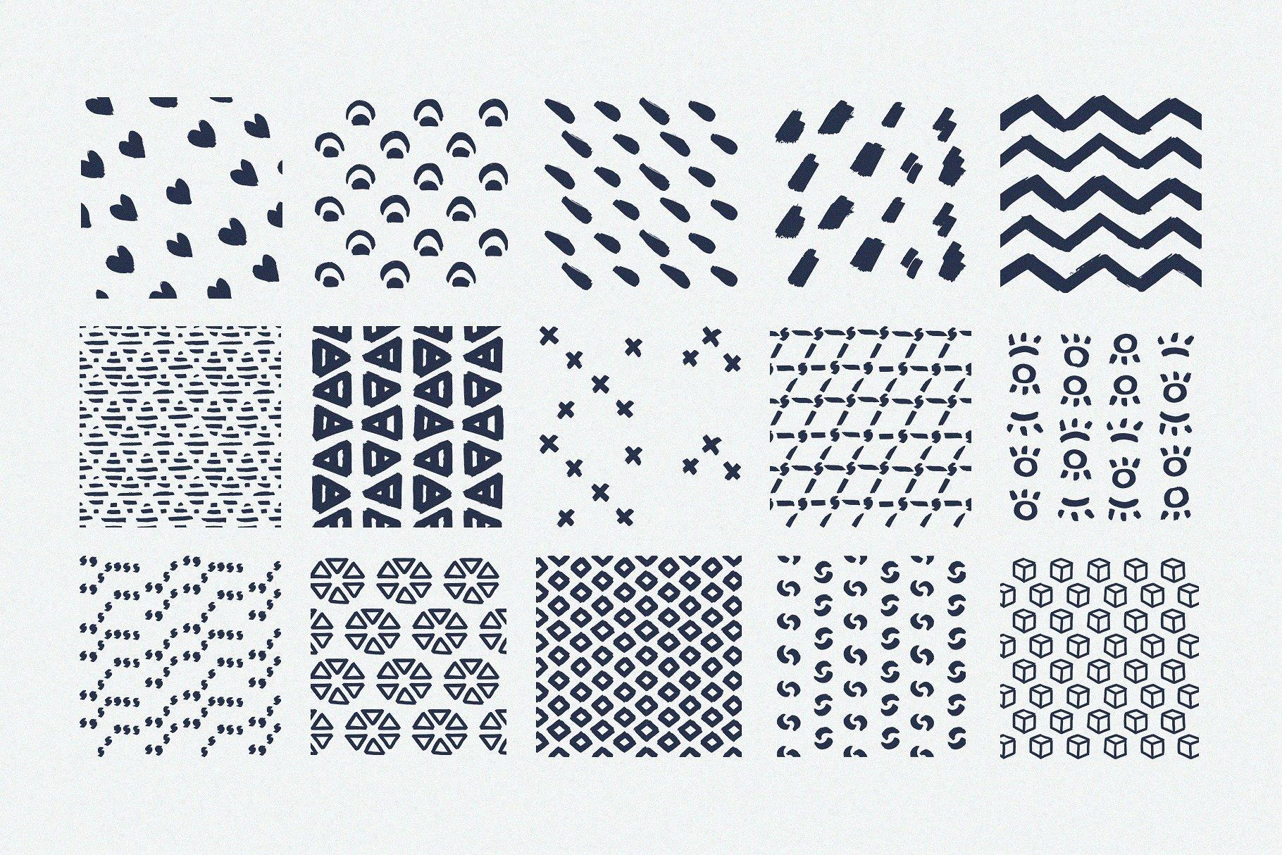 Procreate Patterns Brushes Set example image 4