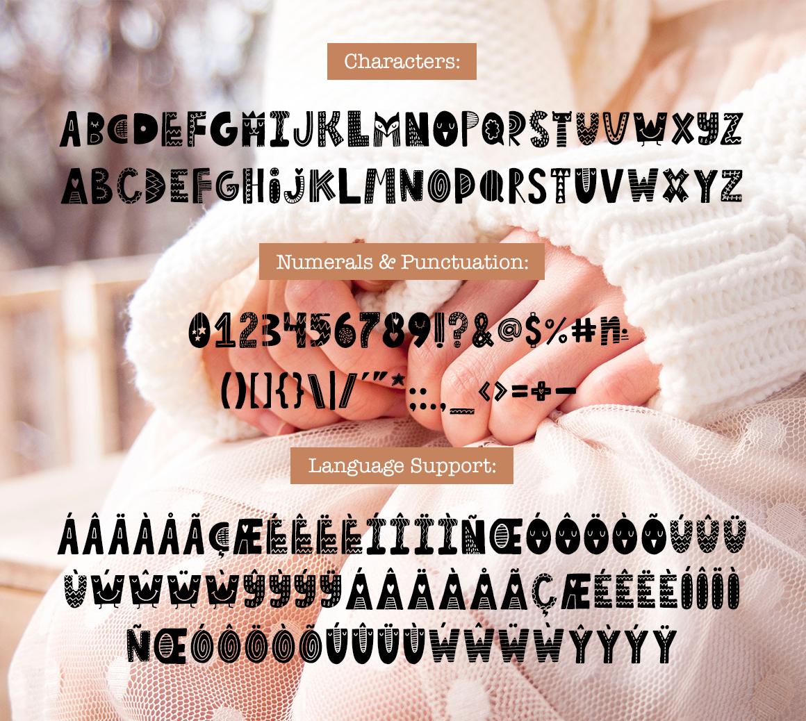 Tiny Joy Font - Scandinavian & Kids example image 6