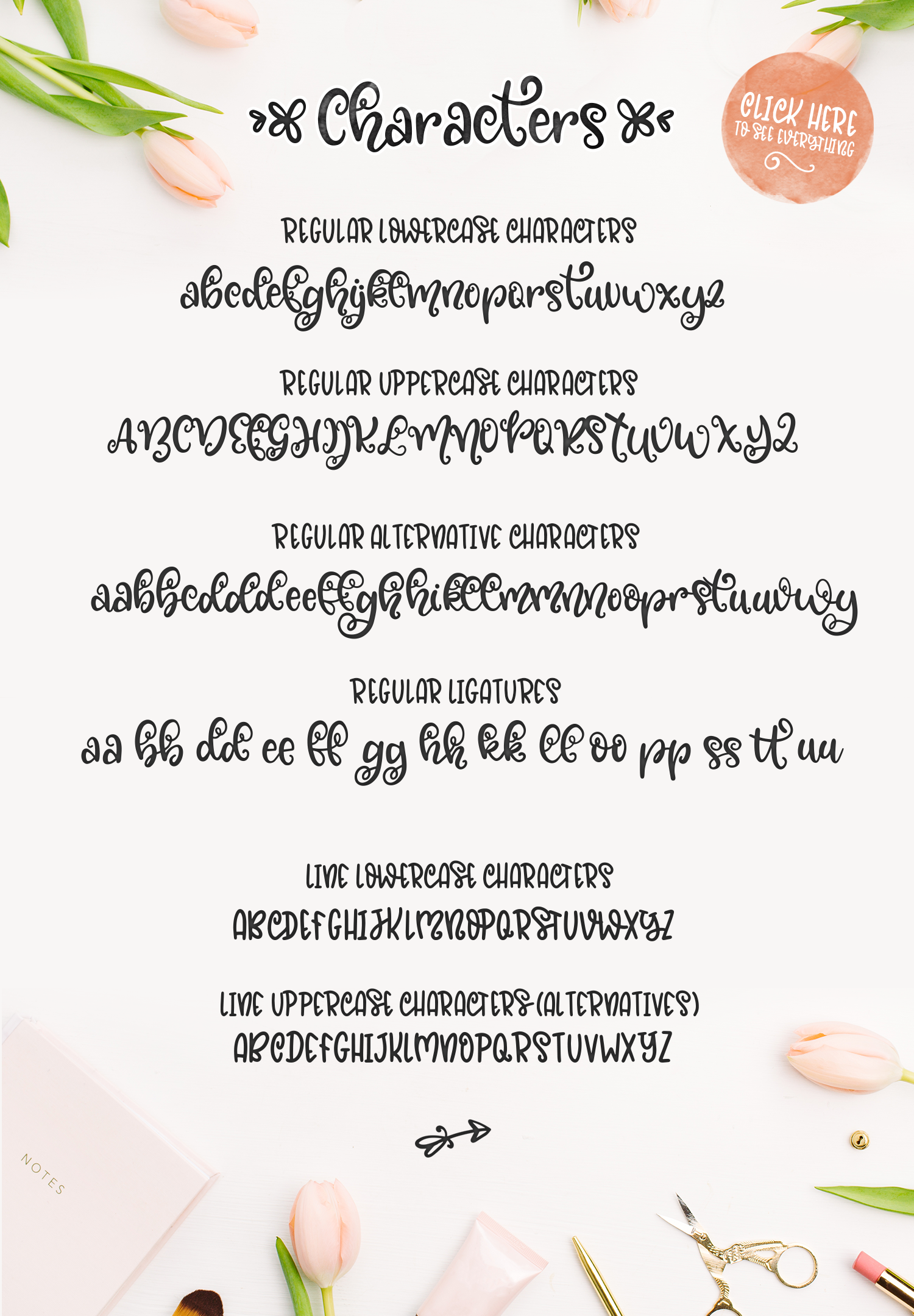 Blossomy - Font Duo Floral Doodles example image 8