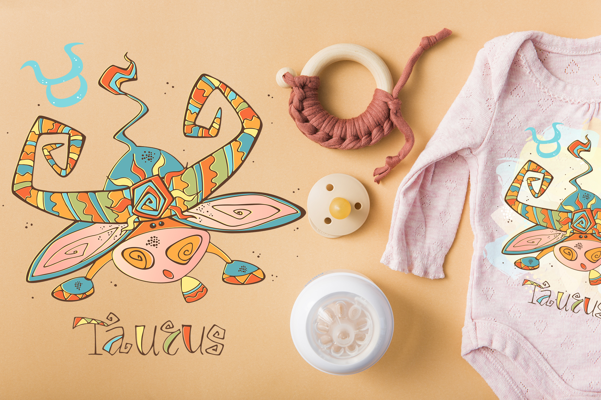 Taurus zodiac sign. For children.  example image 5