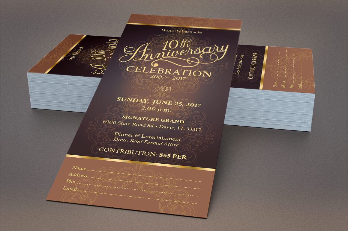 Church Anniversary Publisher Ticket Bundle example image 5