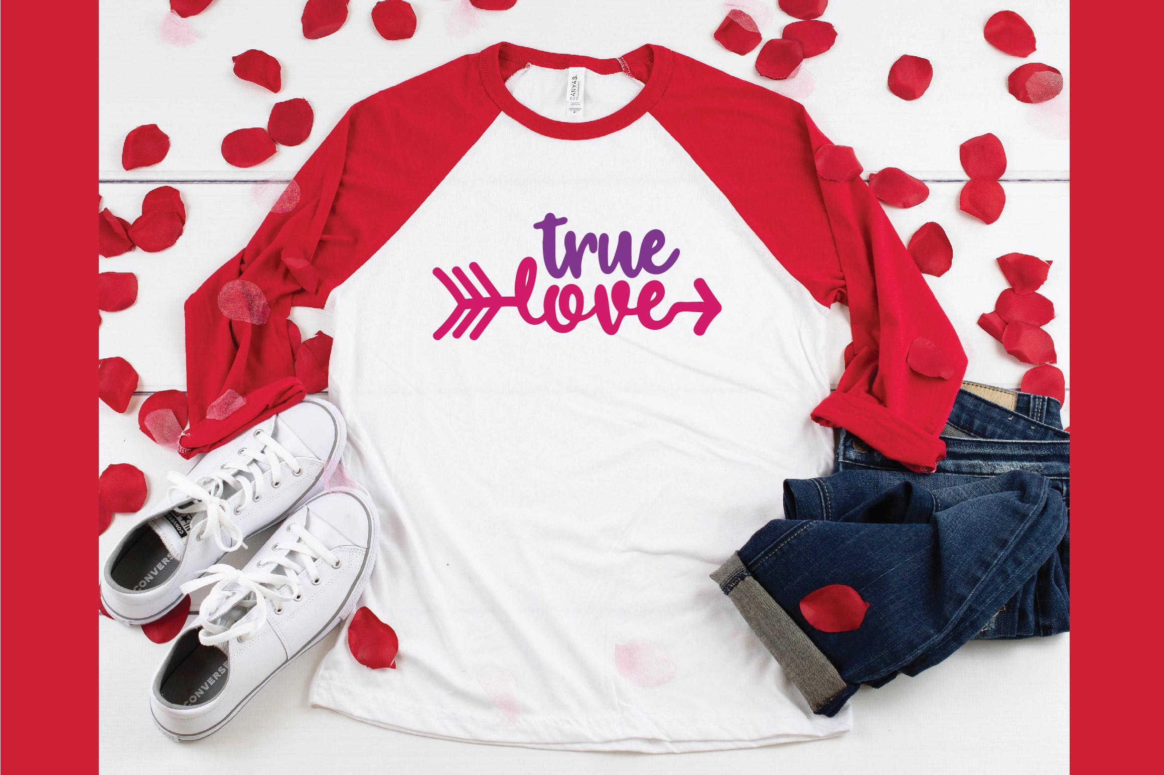 True Love SVG Cut File - Valentine SVG EPS DXF PNG PDF AI example image 4