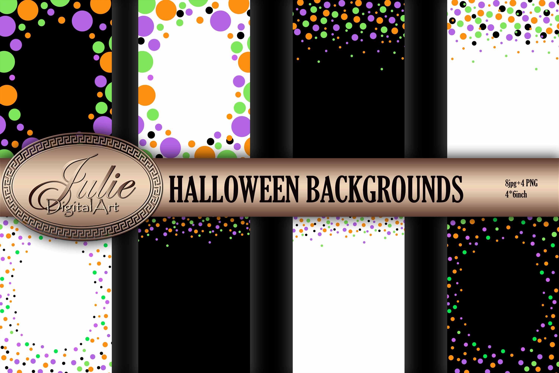 Confetti digital Black white digital paper 4 x 6 example image 1