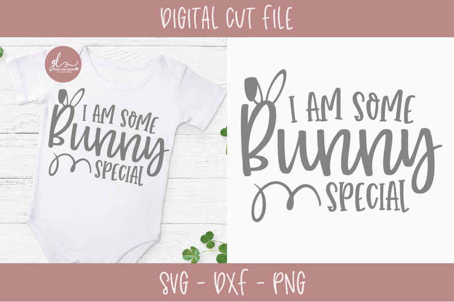 I Am Some Bunny Special - Easter SVG Cut File example image 1