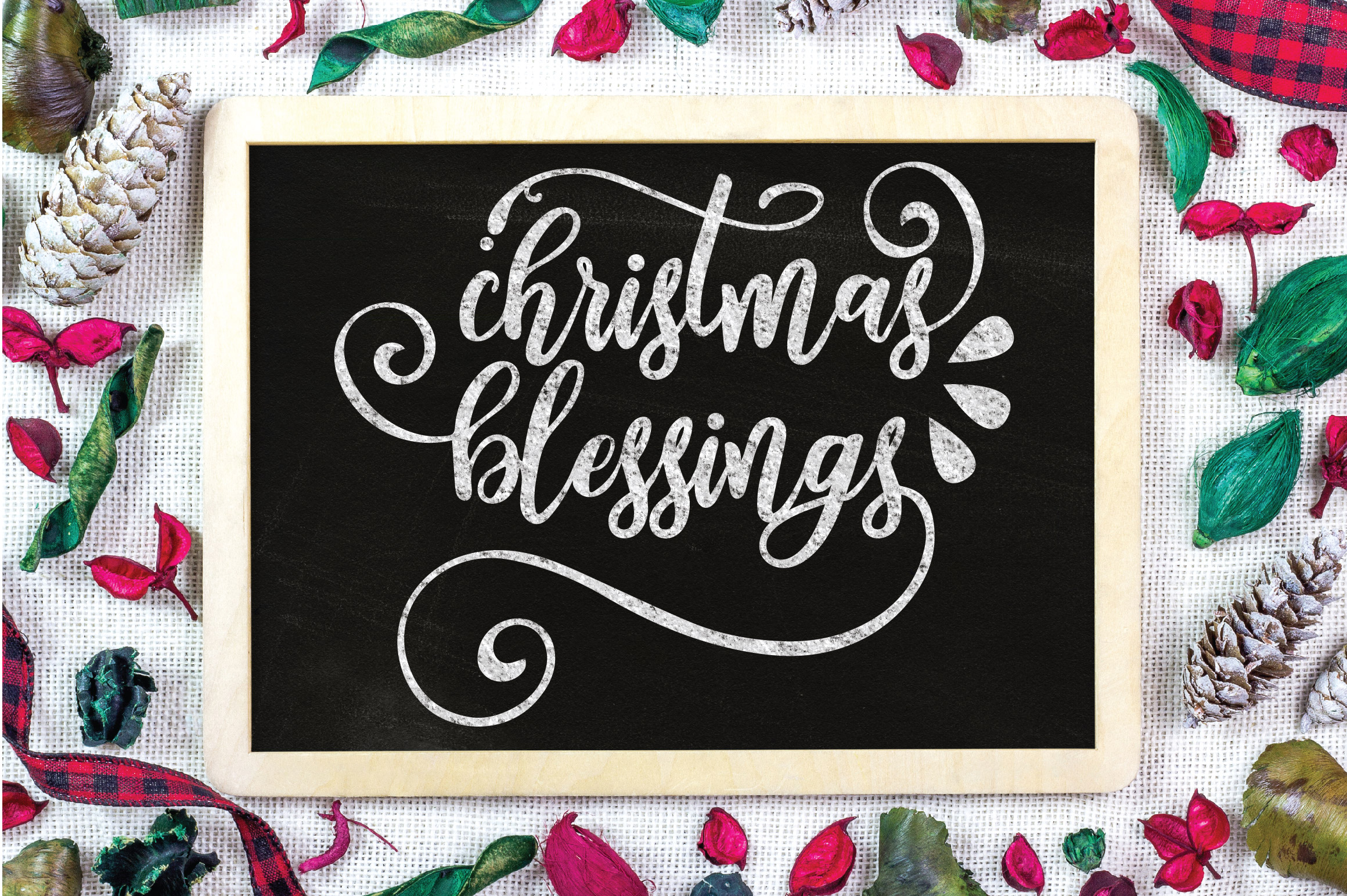 Christmas SVG Cut File - Christmas Blessings SVG DXF PNG EPS example image 4