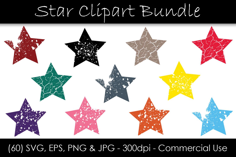 Stars SVG Bundle - Grunge Star Clip Art example image 1