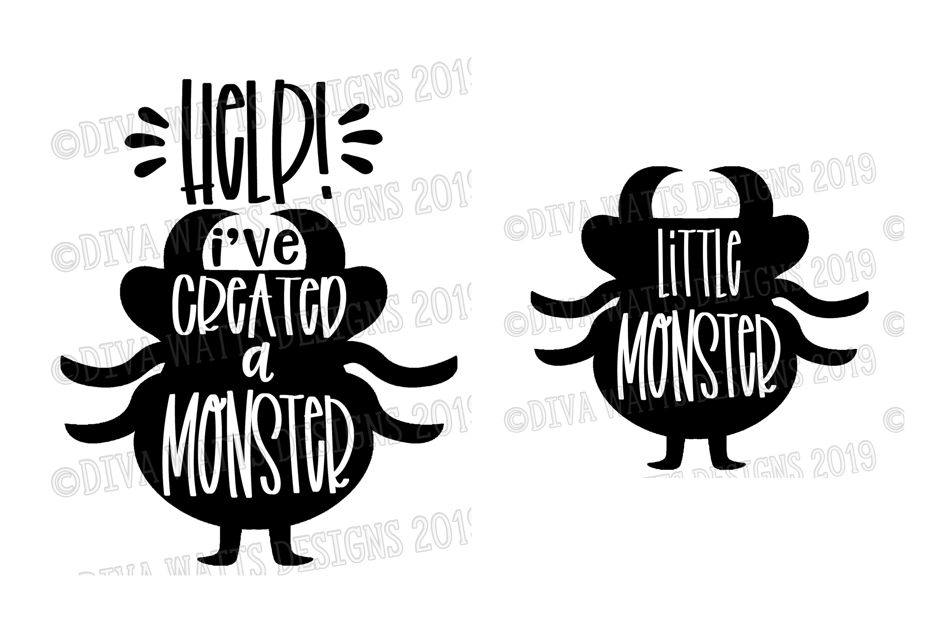 Help! I've We've Created A Monster Halloween Cutting File example image 2