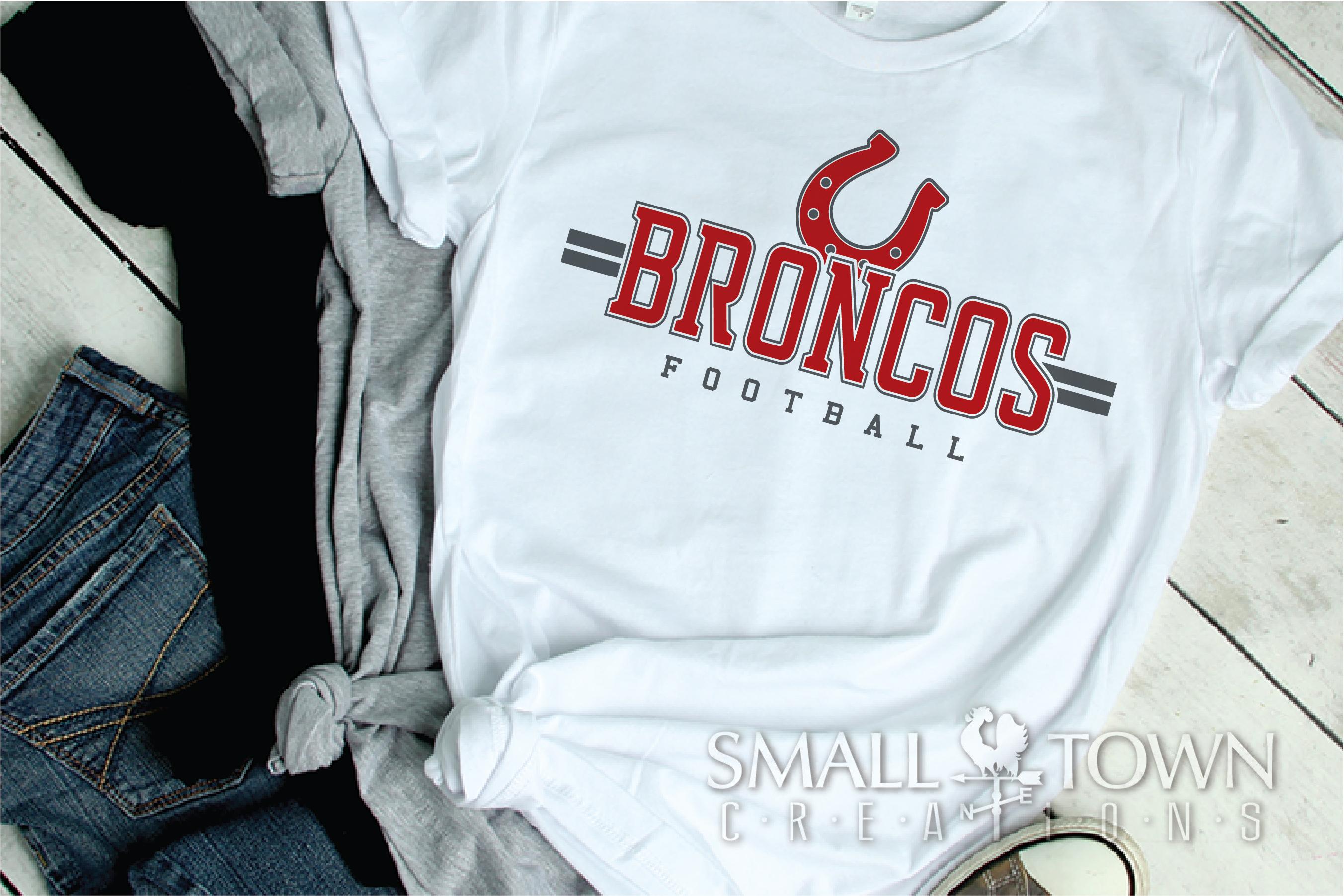 Bronco Football, Football, Sport, Team, PRINT, CUT & DESIGN example image 2