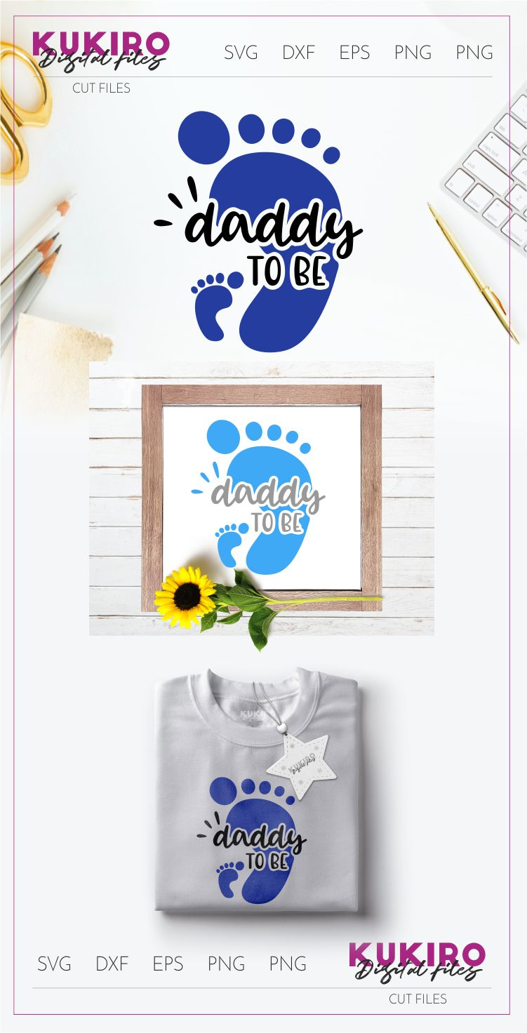 Daddy to be SVG - Father's day - New FATHER cut file example image 2