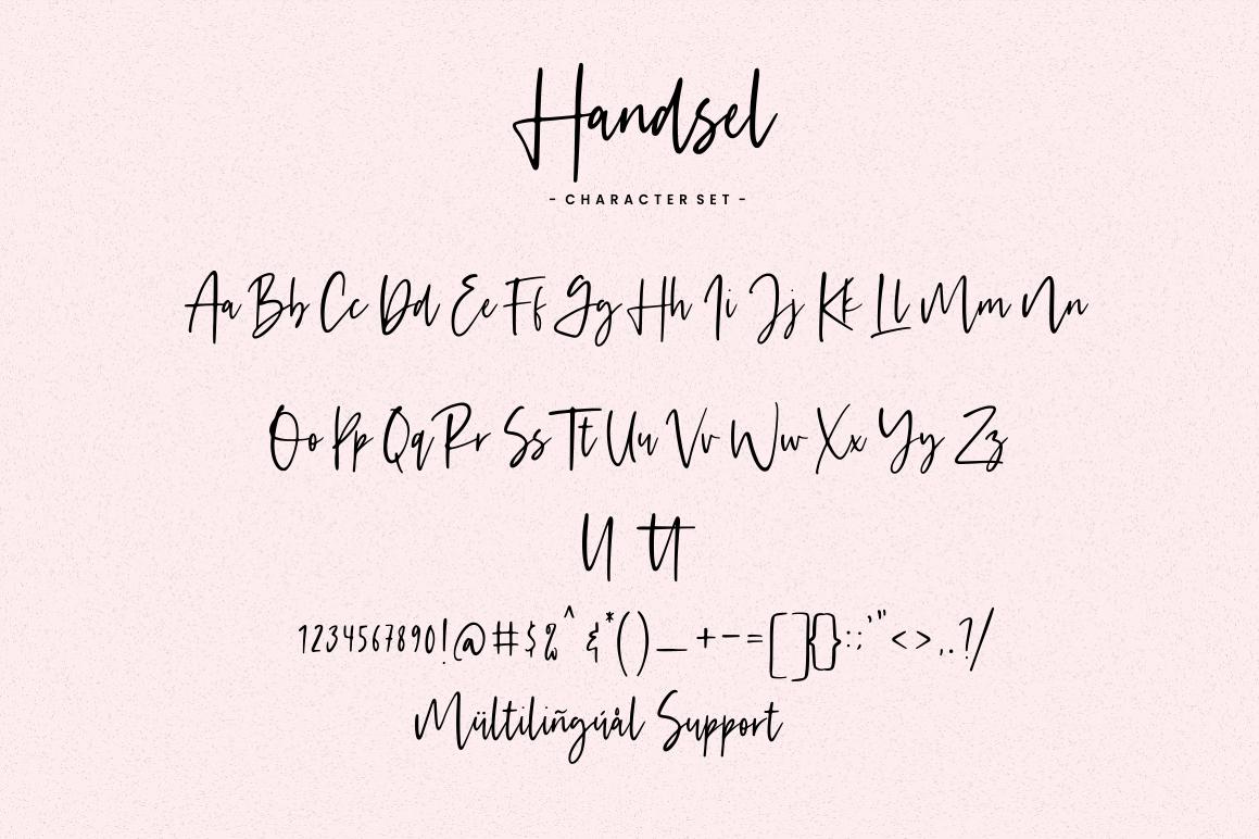 Handsel - Handwritten Font example image 11