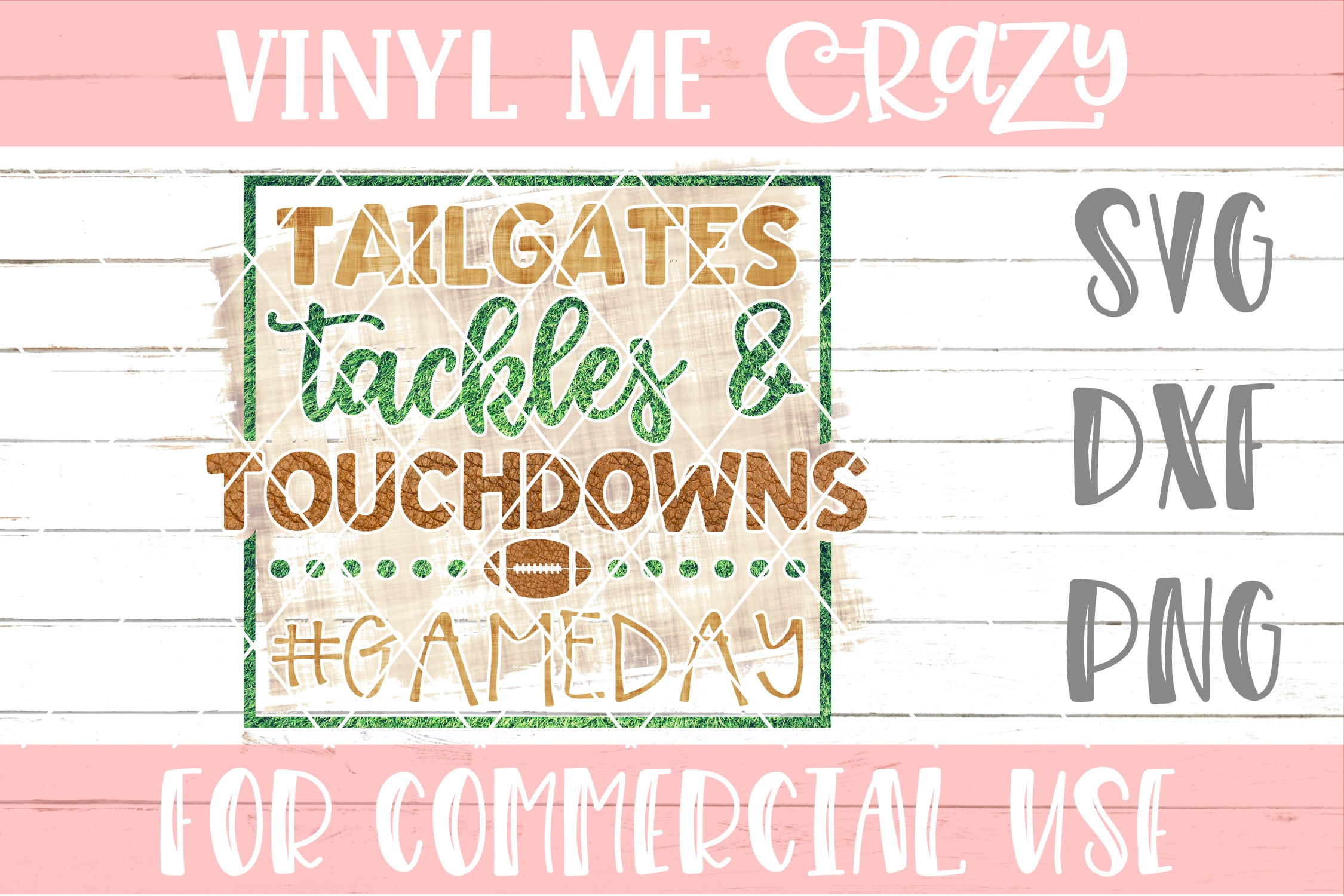 Tailgates Tackles and Touchdowns SVG DXF PNG example image 1