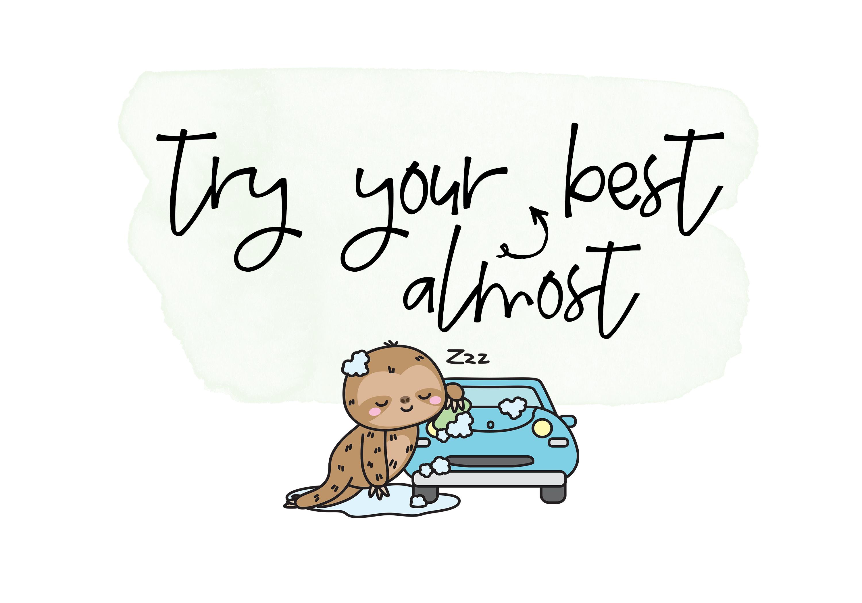 Sloth Life - Handwritten Script Font example image 5