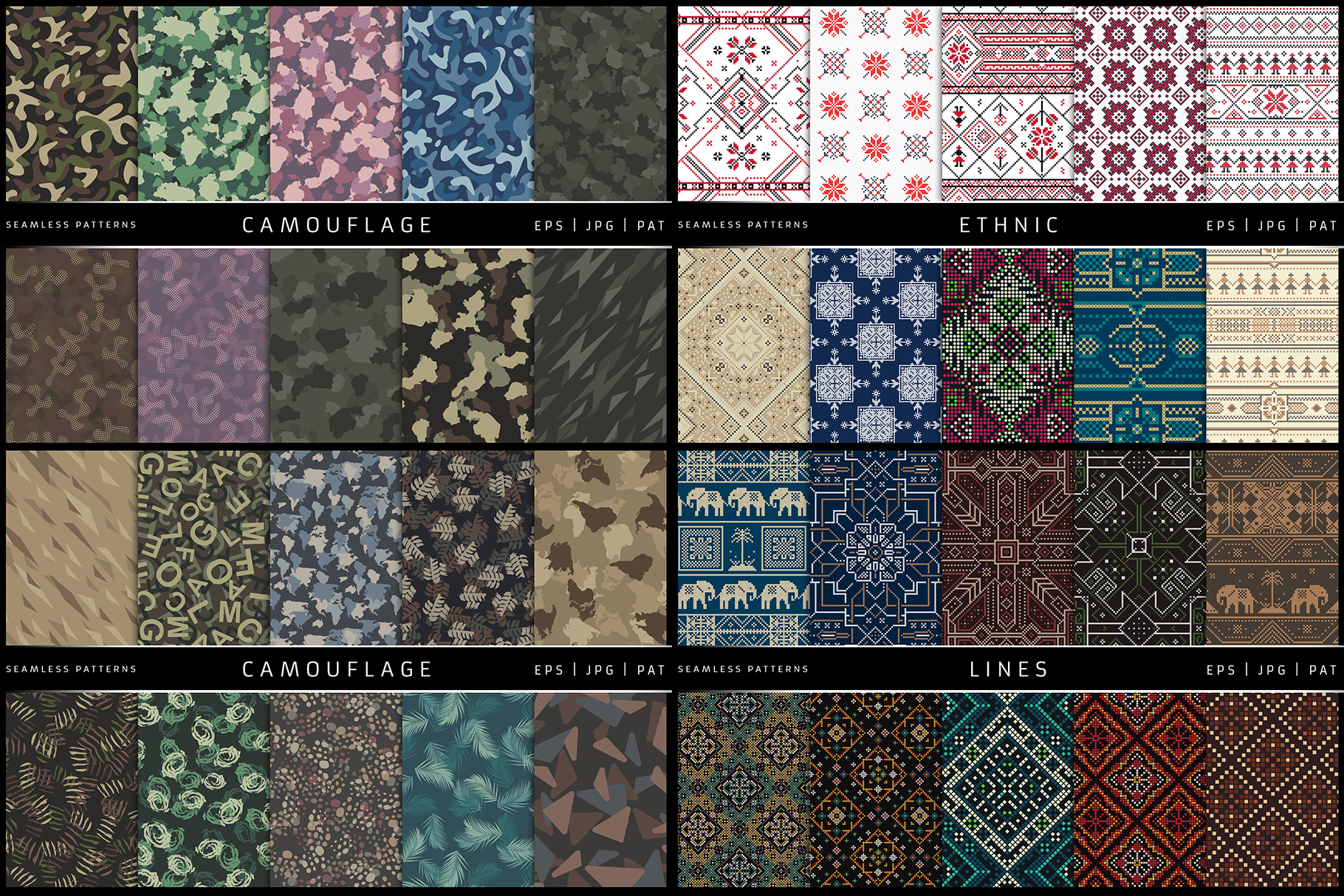 100 Seamless Patterns Vol.2 example image 5
