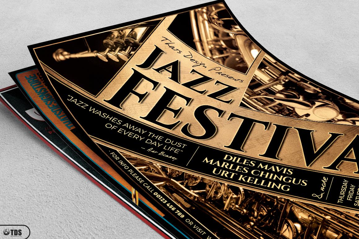 Jazz Festival Flyer Bundle V1 example image 5