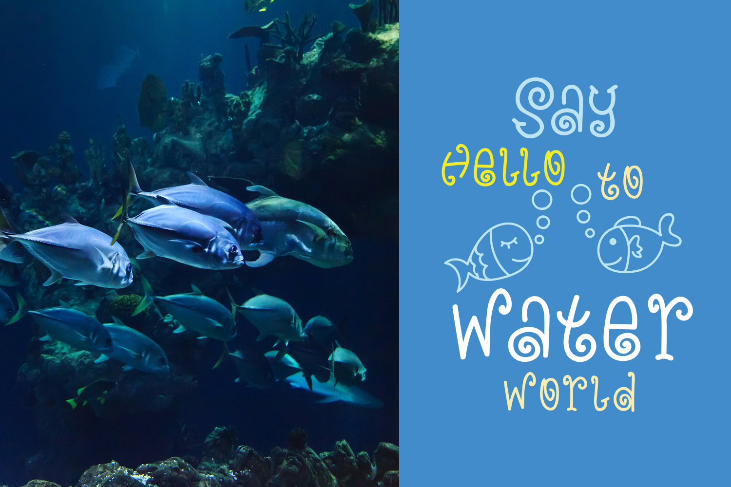 Blue Ocean - Cute and Funny Font example image 4