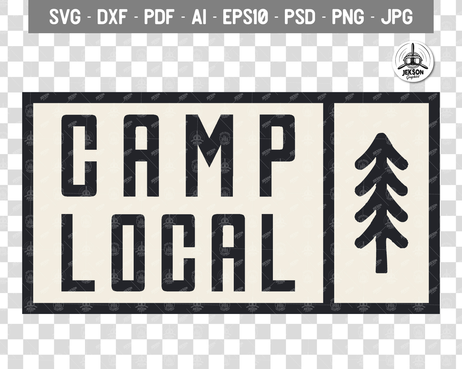 Vintage Camp Local Logo / Retro Typography Badge Travel SVG example image 4