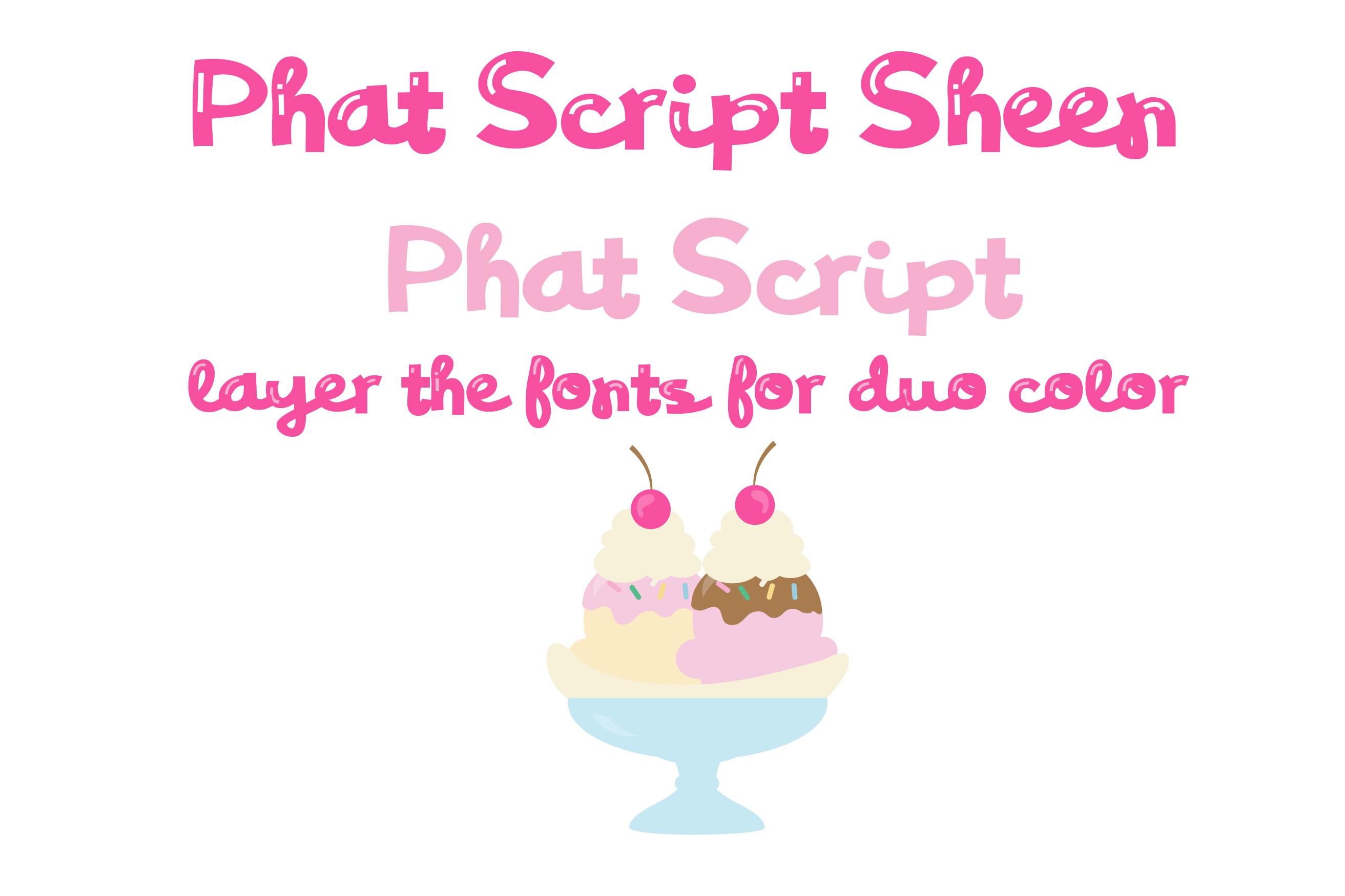 PN Phat Script Sheen Font Duo example image 6