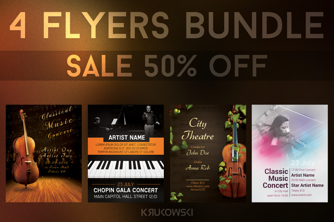 Classical Music Event Flyers Bundle example image 1