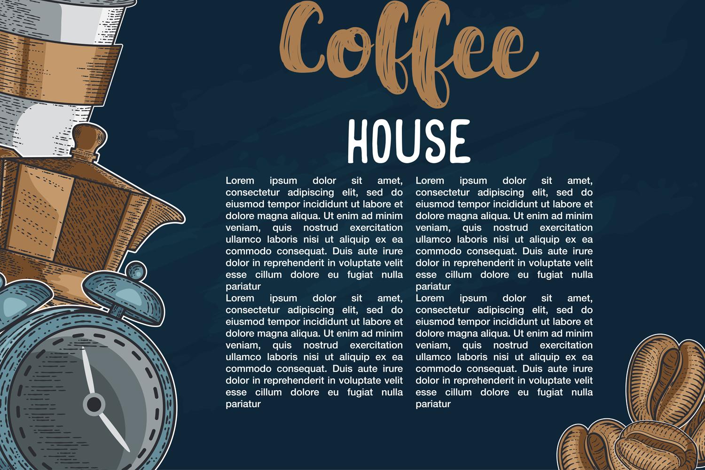 15 designs - Coffee restaurant brochure vector, coffee shop example image 8