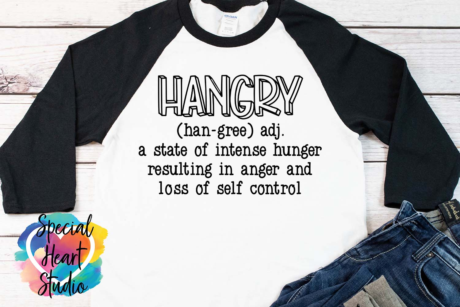 Hangry - A sarcastic and funny SVG file example image 1