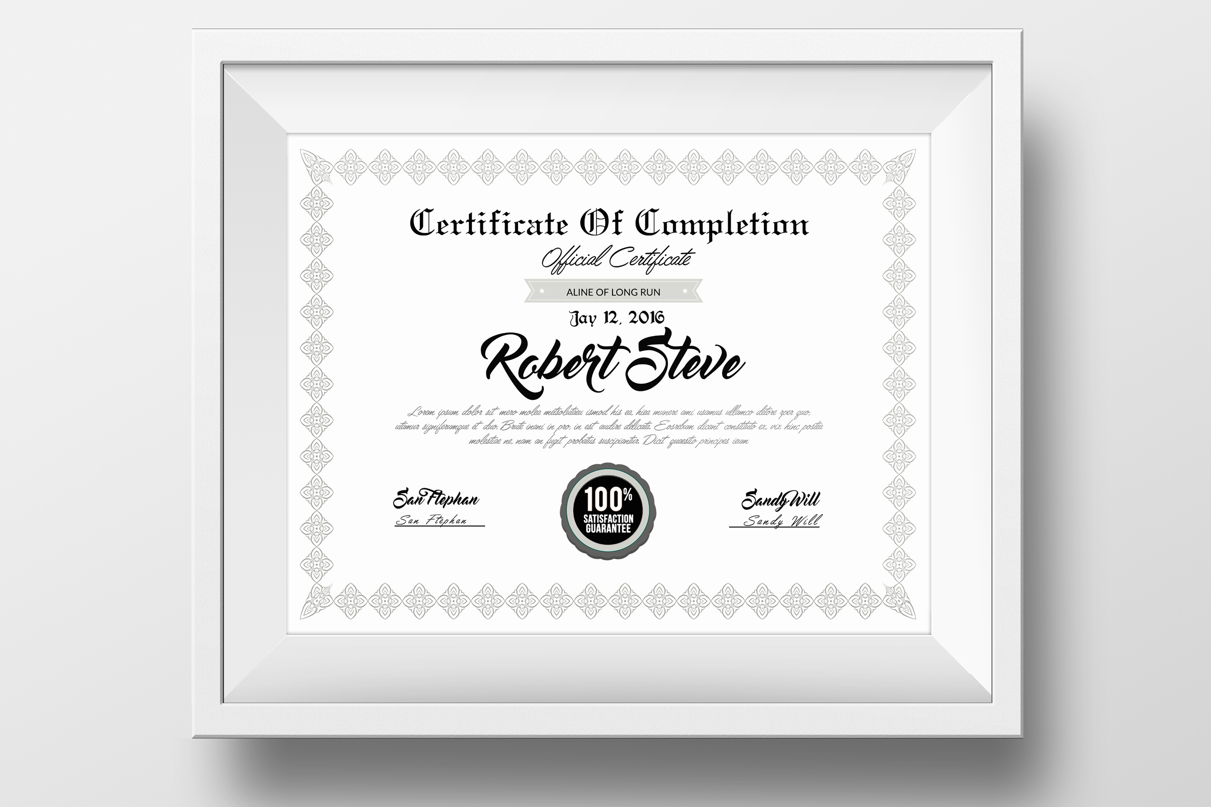 Student Certificated & Diplomas Print Templates example image 1