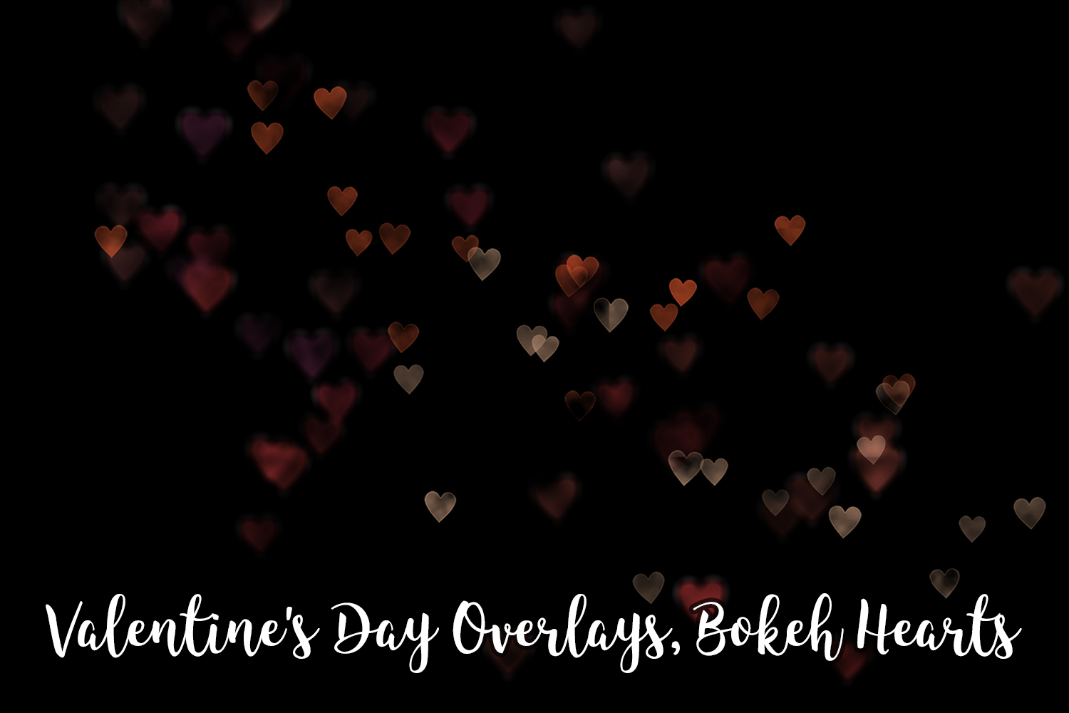 Valentine's Day Overlays, Bokeh Hearts Overlays example image 2