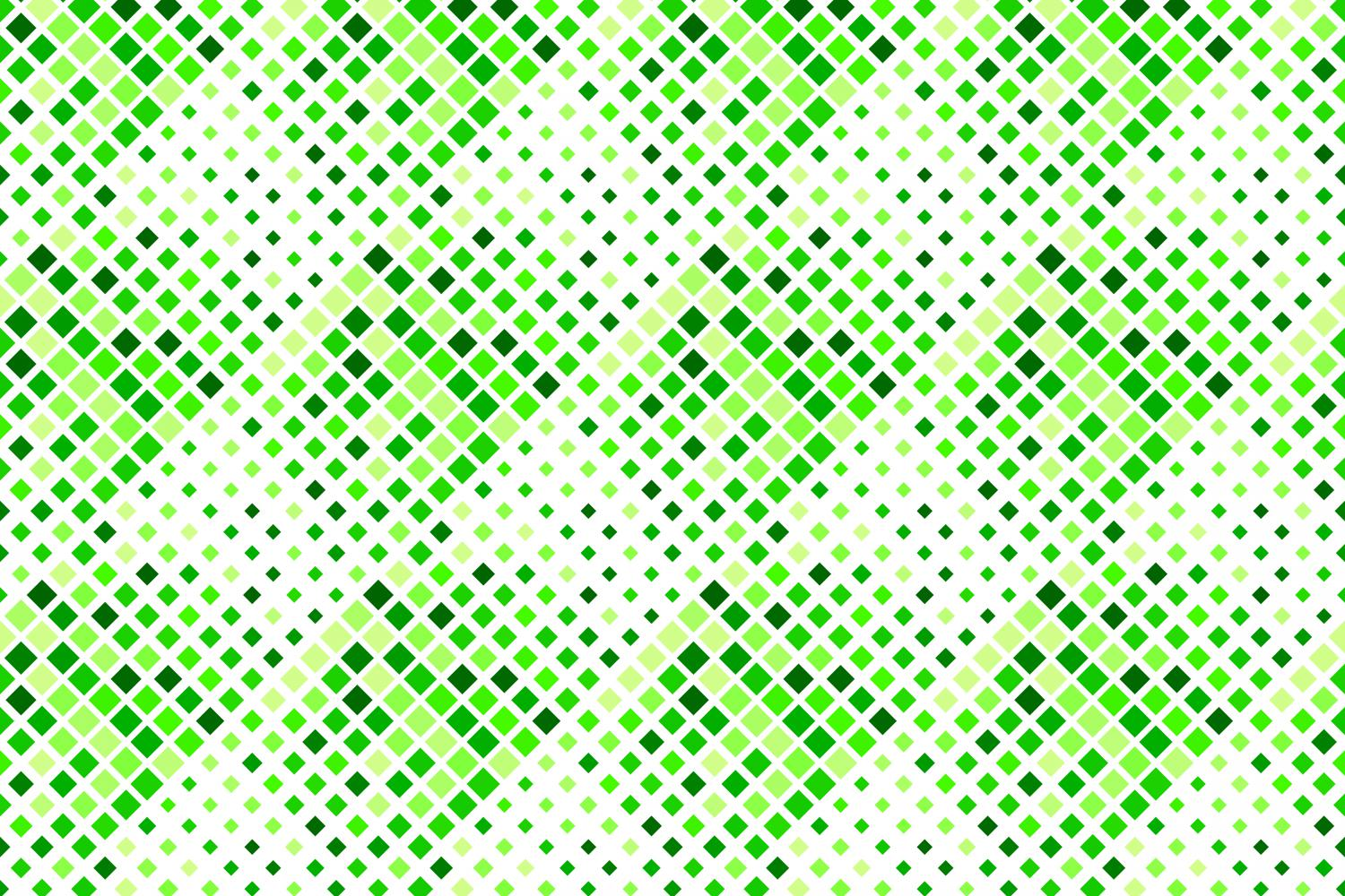 24 Seamless Green Square Patterns example image 5