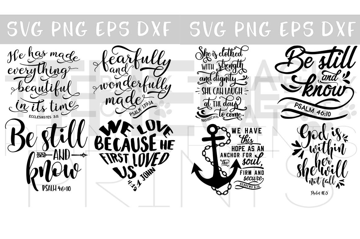 Christian SVG Bundle 24 Designs SVG PNG EPS DXF example image 3