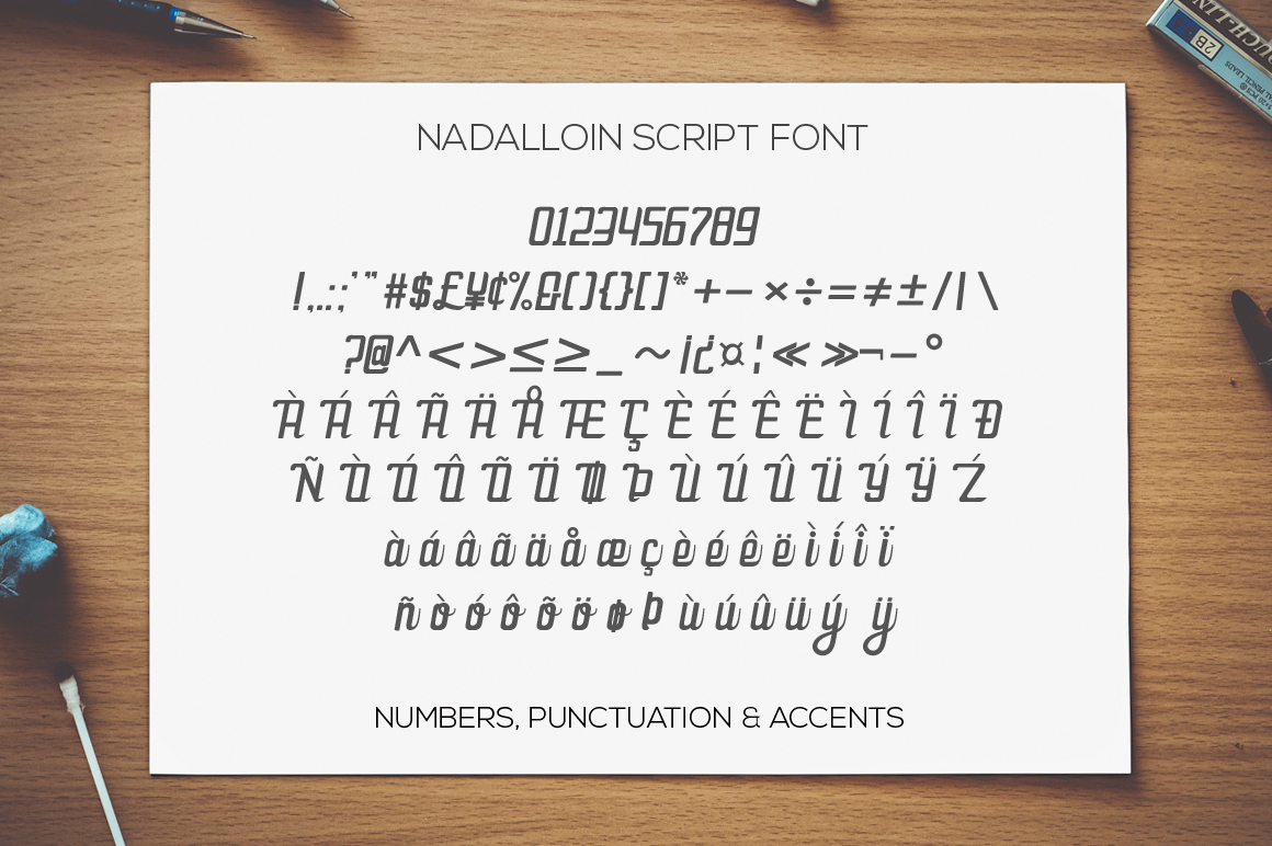 Nadalloin font example image 11