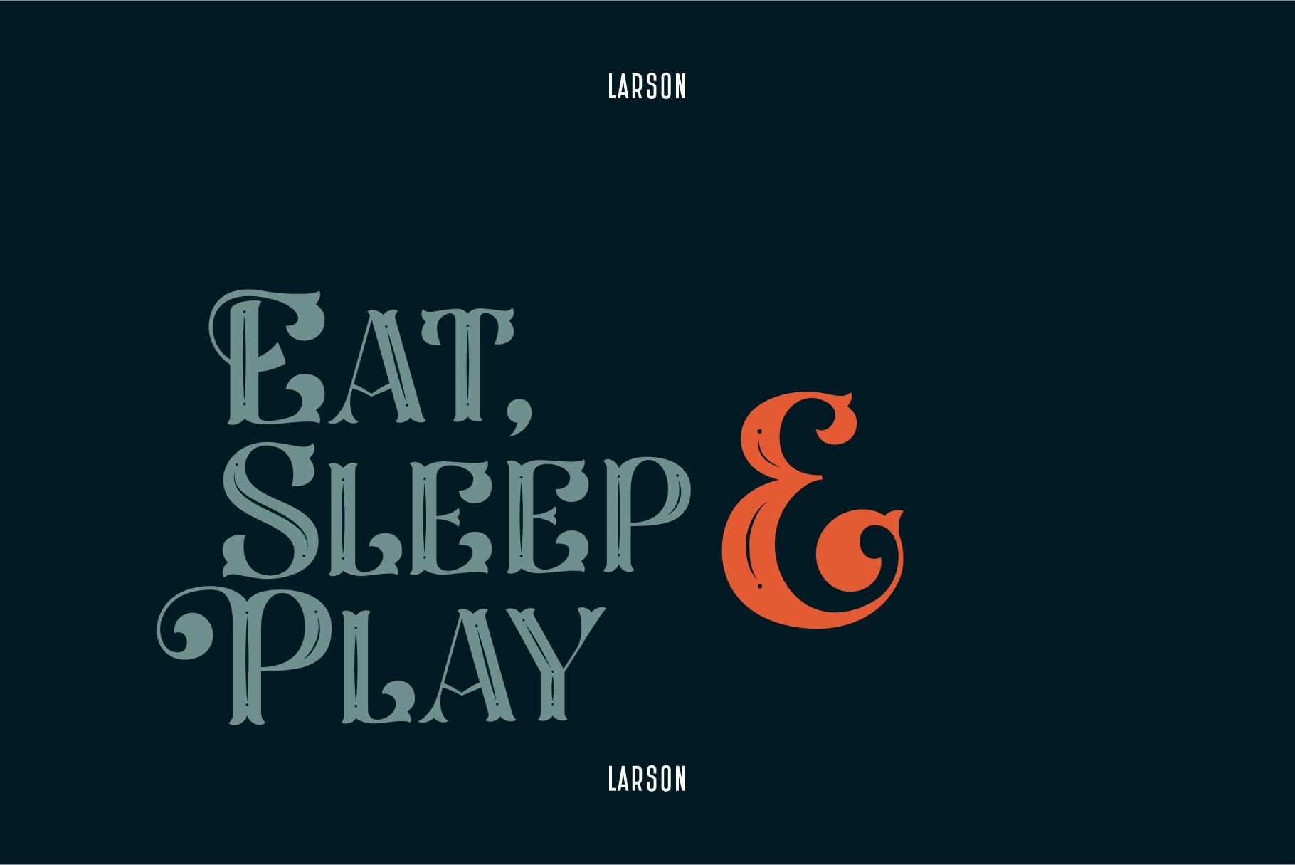 Larson Display Font example image 10