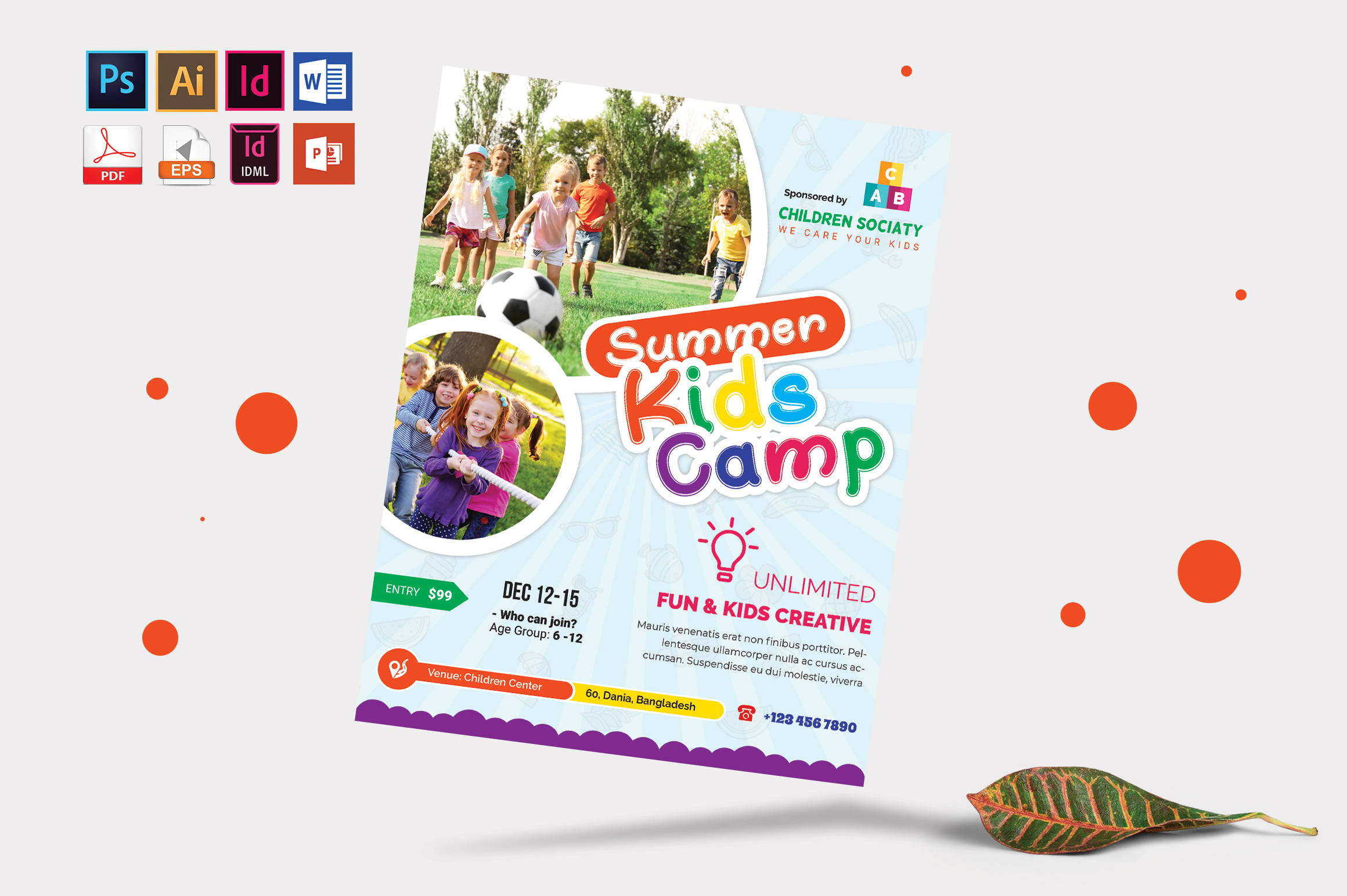 Kids Summer Camp Flyer Vol-10 example image 3