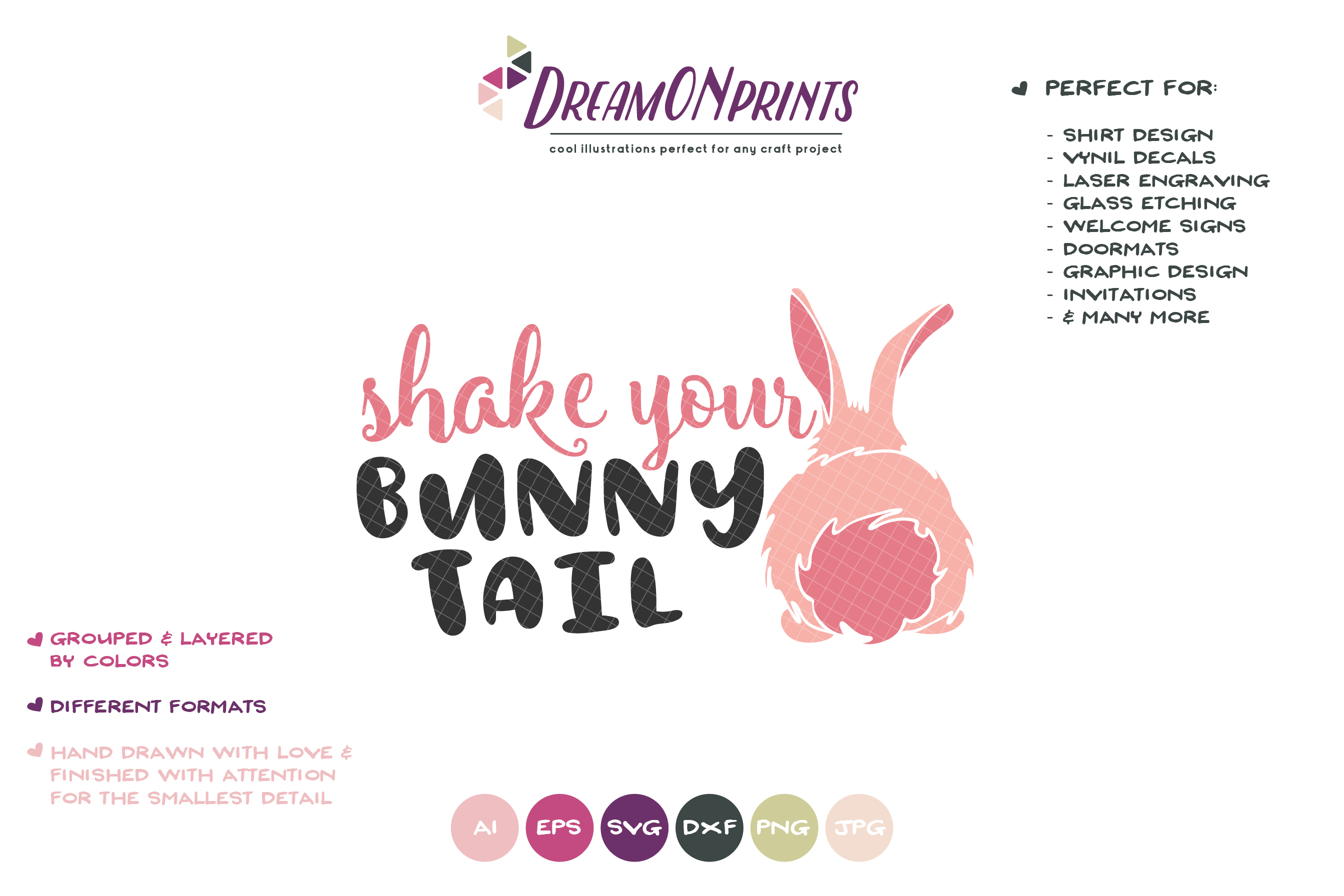 Shake Your Bunny Tail SVG - Bunny Butt SVG Cut Files example image 2