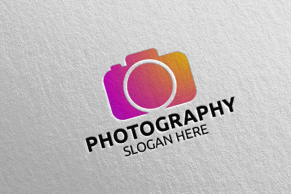 Abstract Camera Photography Logo 15 example image 2