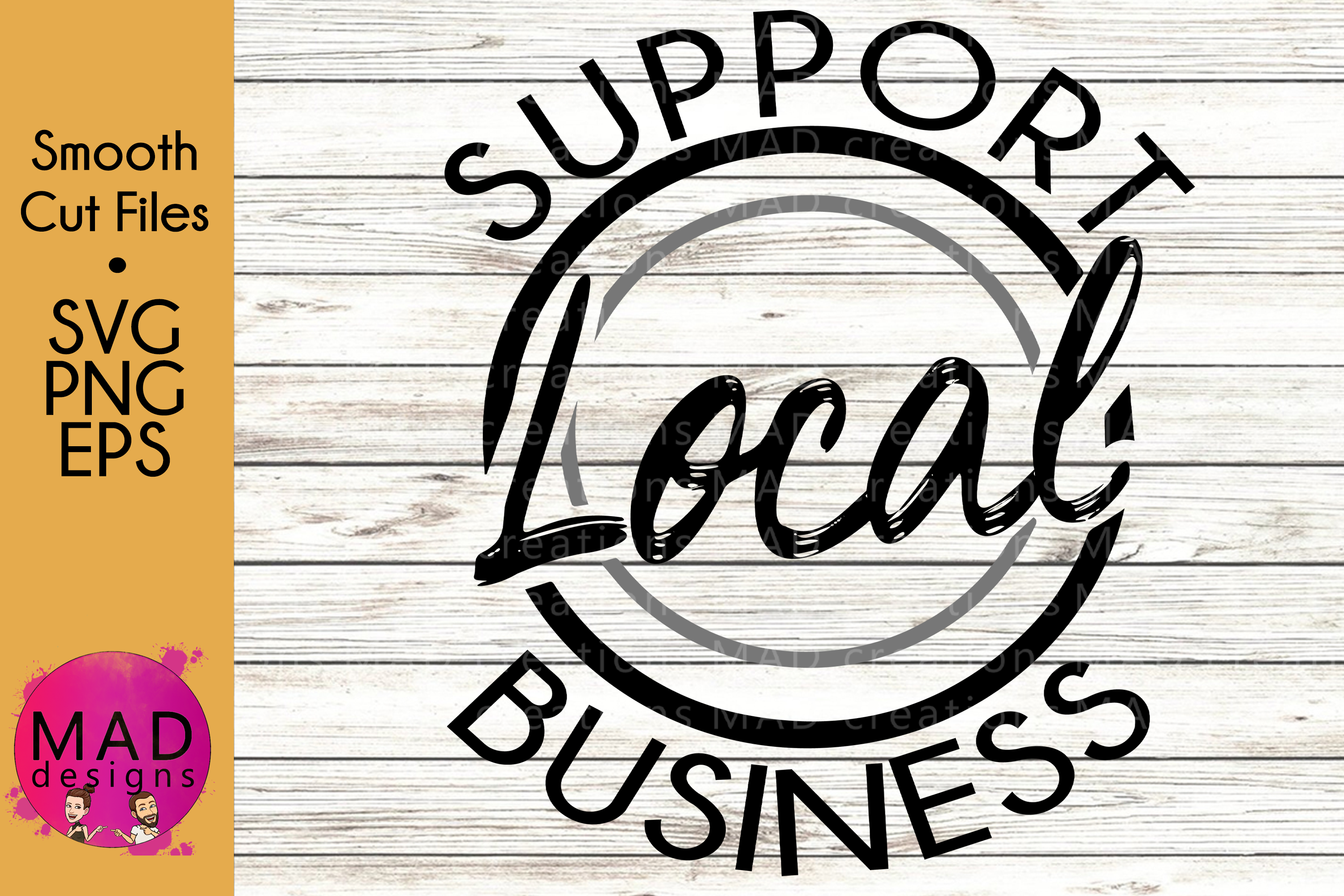 Support Local Business - SVG, PNG, EPS example image 1