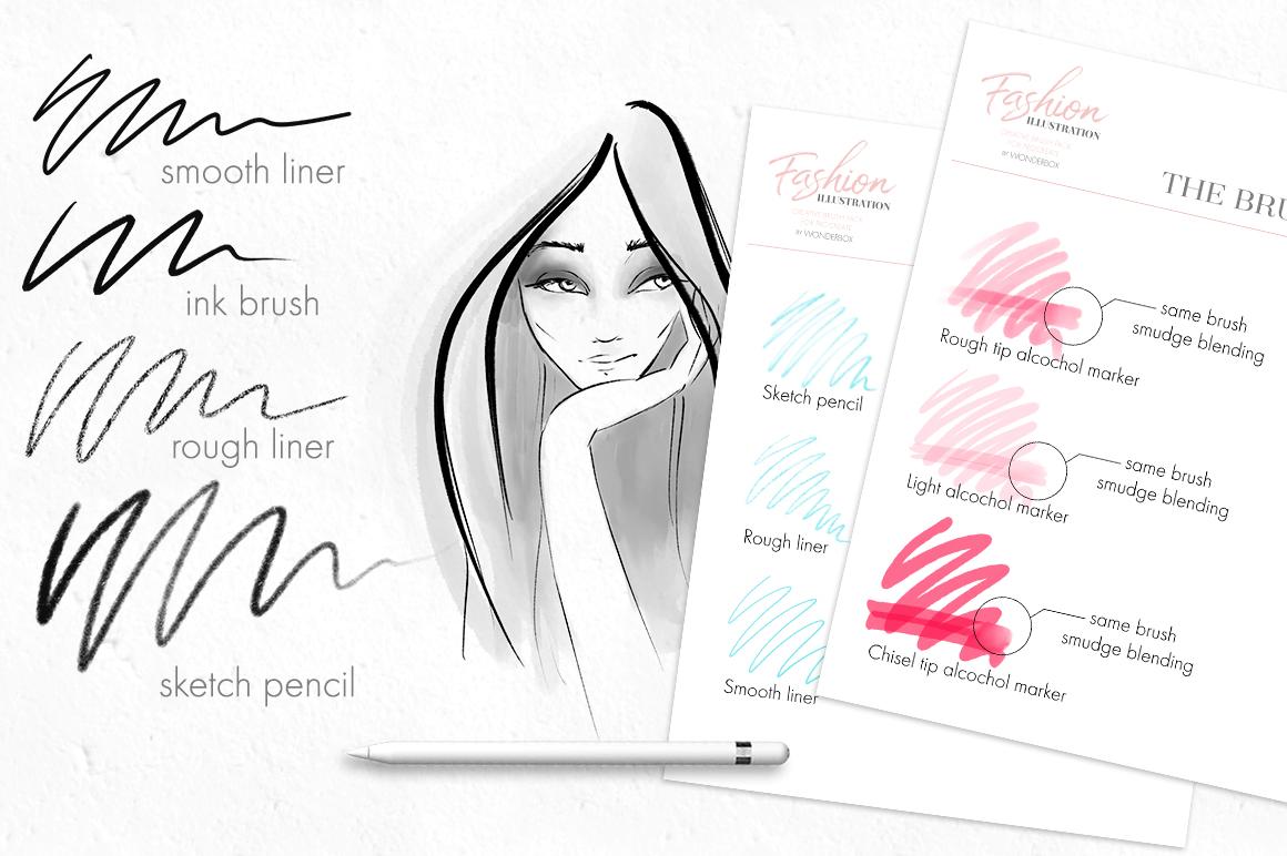 Fashion Illustration Brushes for Procreate example image 2