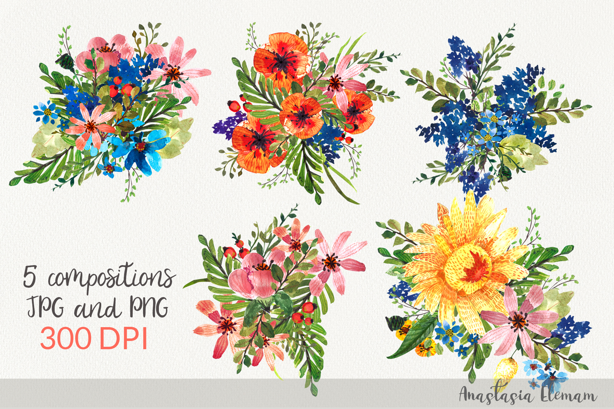 Composition flower power 5 isolated jpeg and png example image 1