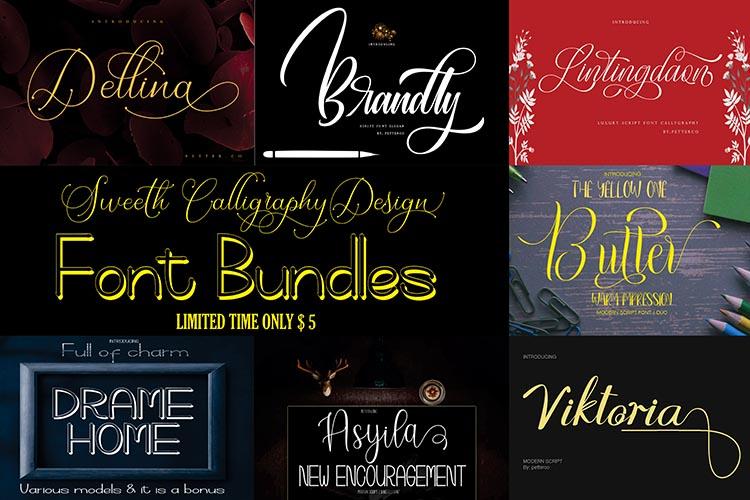 Sweeth Calligraphy Design - Font Bundles example image 1
