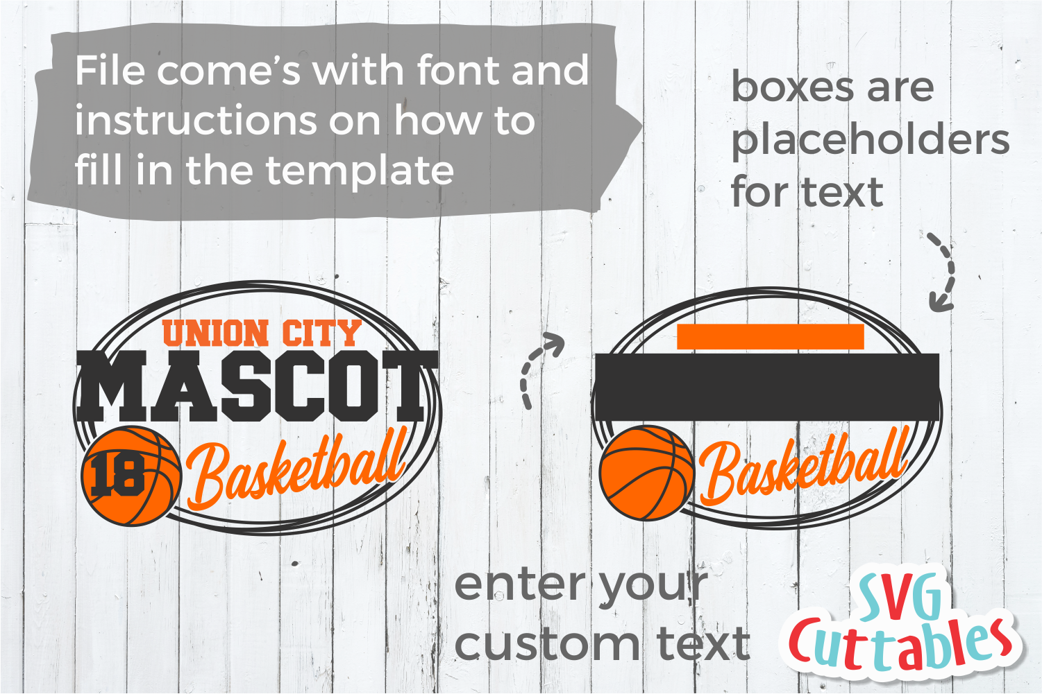 Basketball Template 0039 | Cut File example image 2