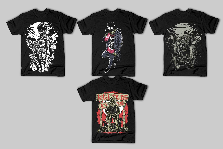 40 Tshirt Designs Bundle example image 8