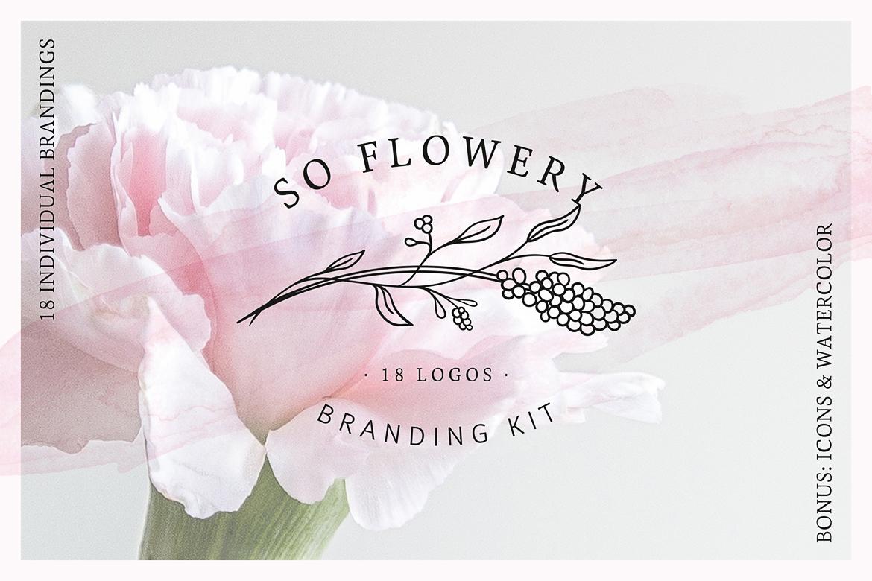 So Flowery Branding Kit + Watercolours example image 1