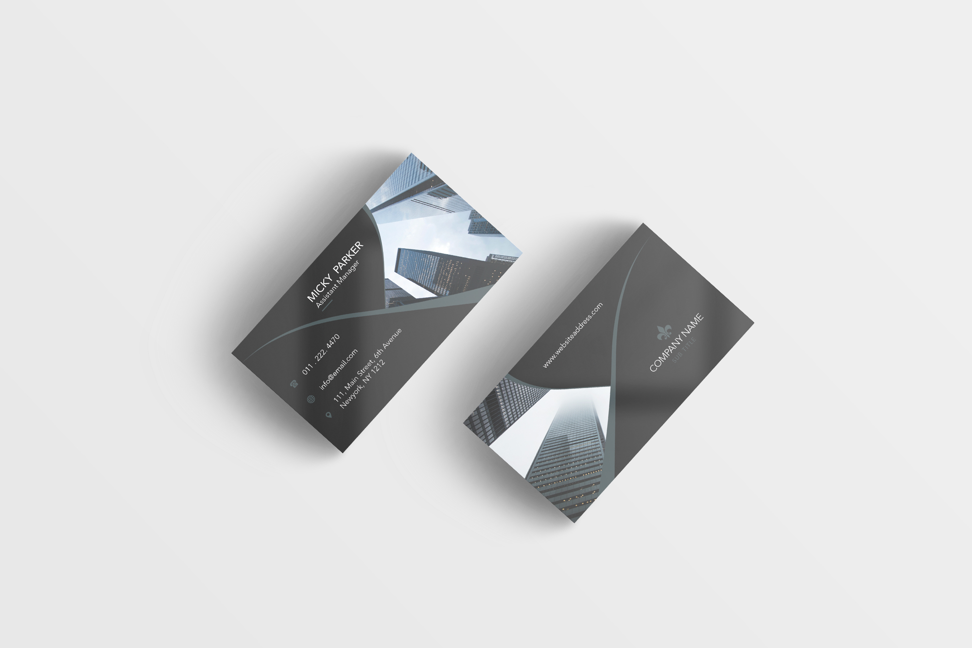Corporate business card example image 5