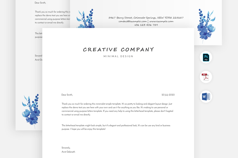 Modern Letterhead Template example image 3