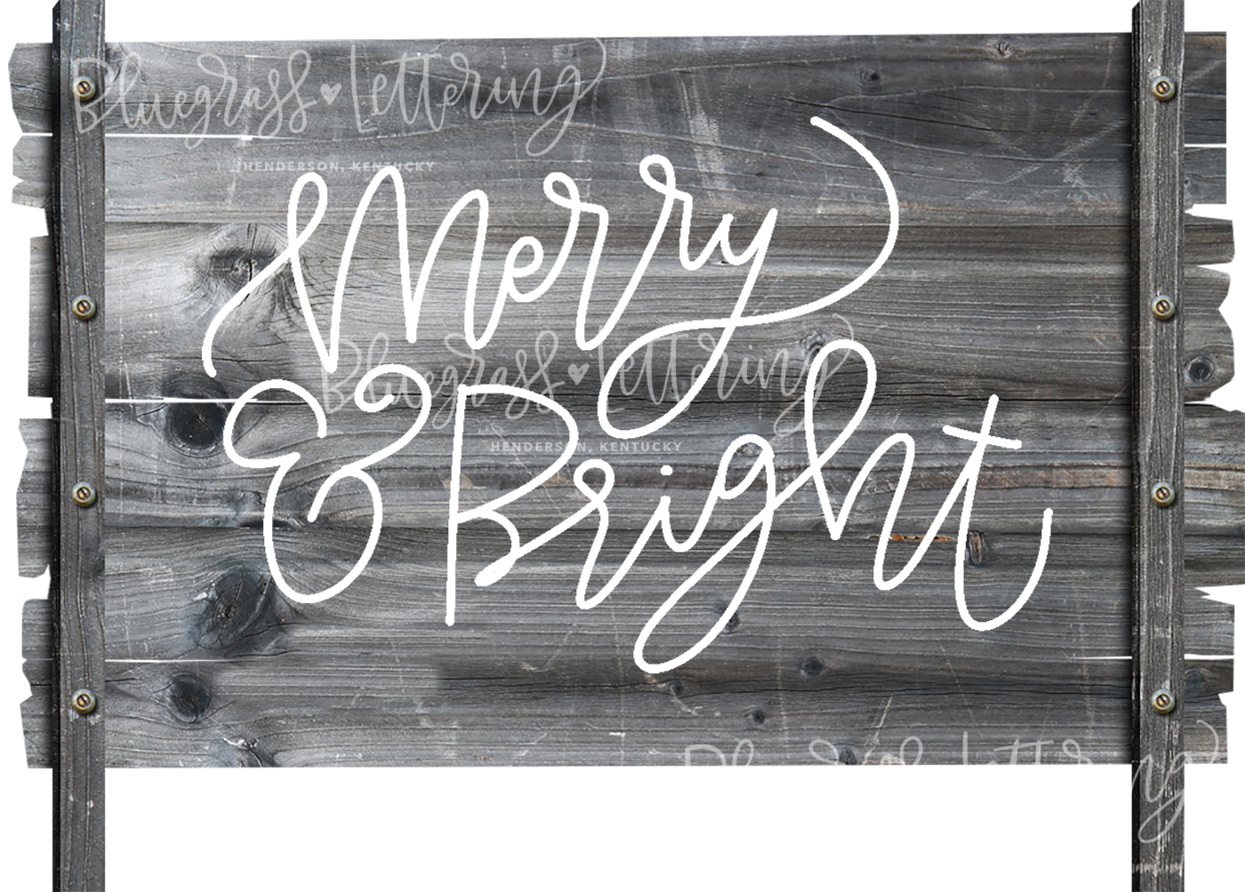 Handlettered Christmas SVG Pack example image 8