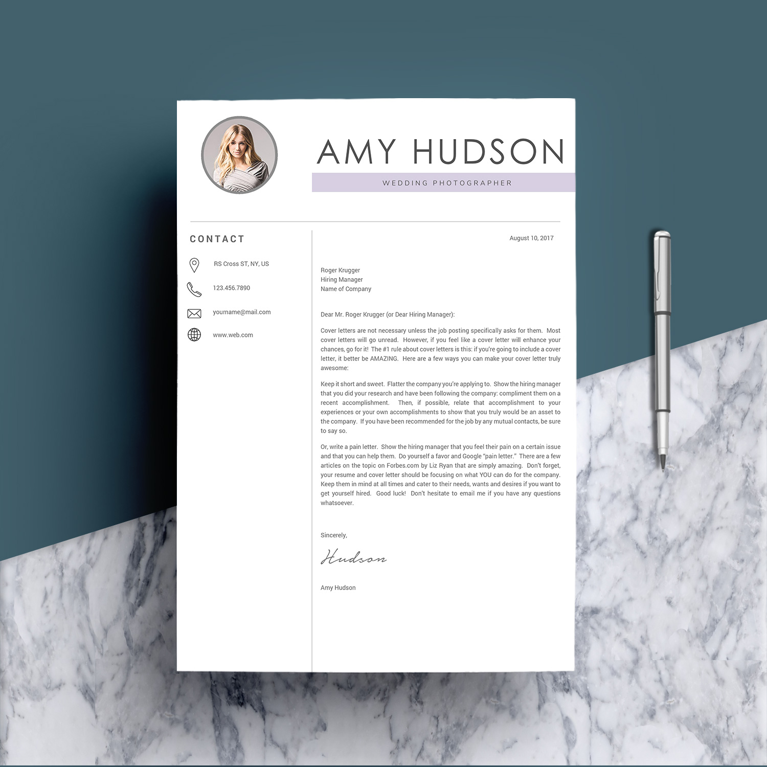 Professional Resume Template word example image 5