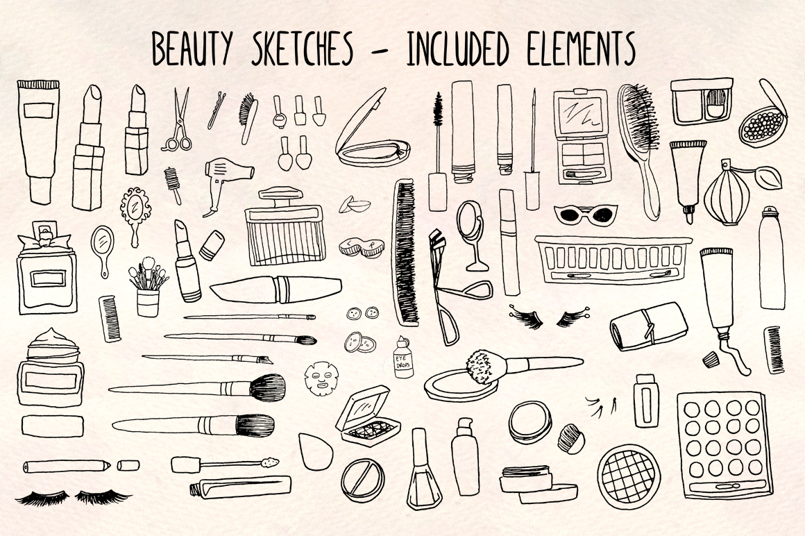 70 Cosmetics, Make Up and Beauty Blogger Vector Graphics example image 2