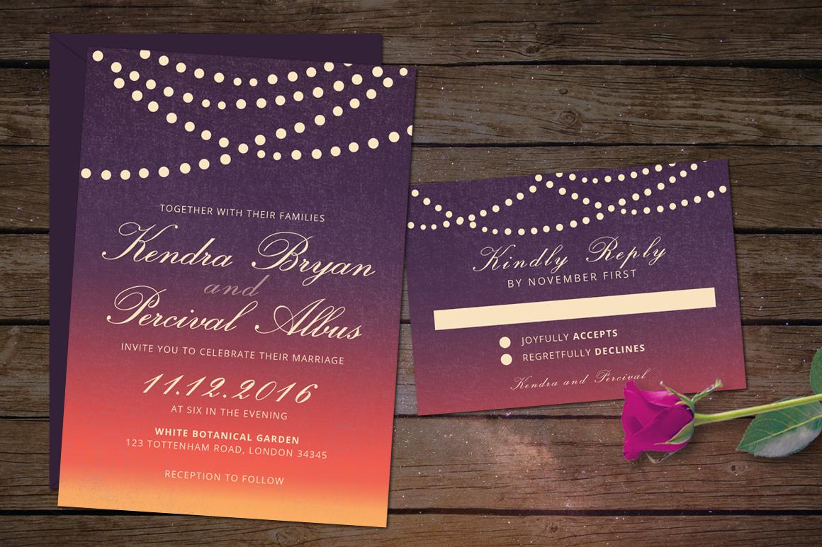 Dusk Wedding Invitation example image 4