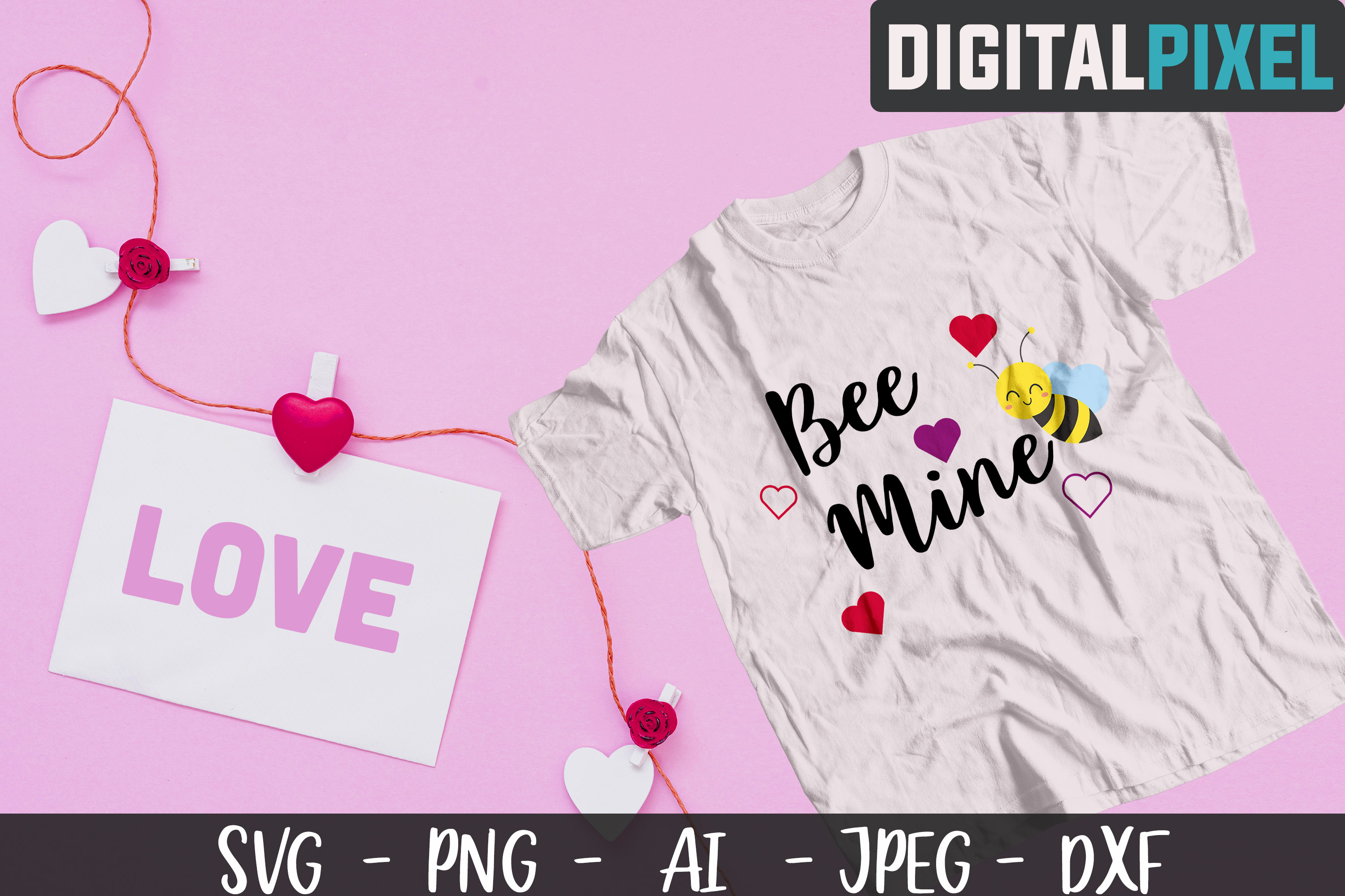Valentines Day Bundle SVG PNG DXF Valentines Bundle Crafters example image 4