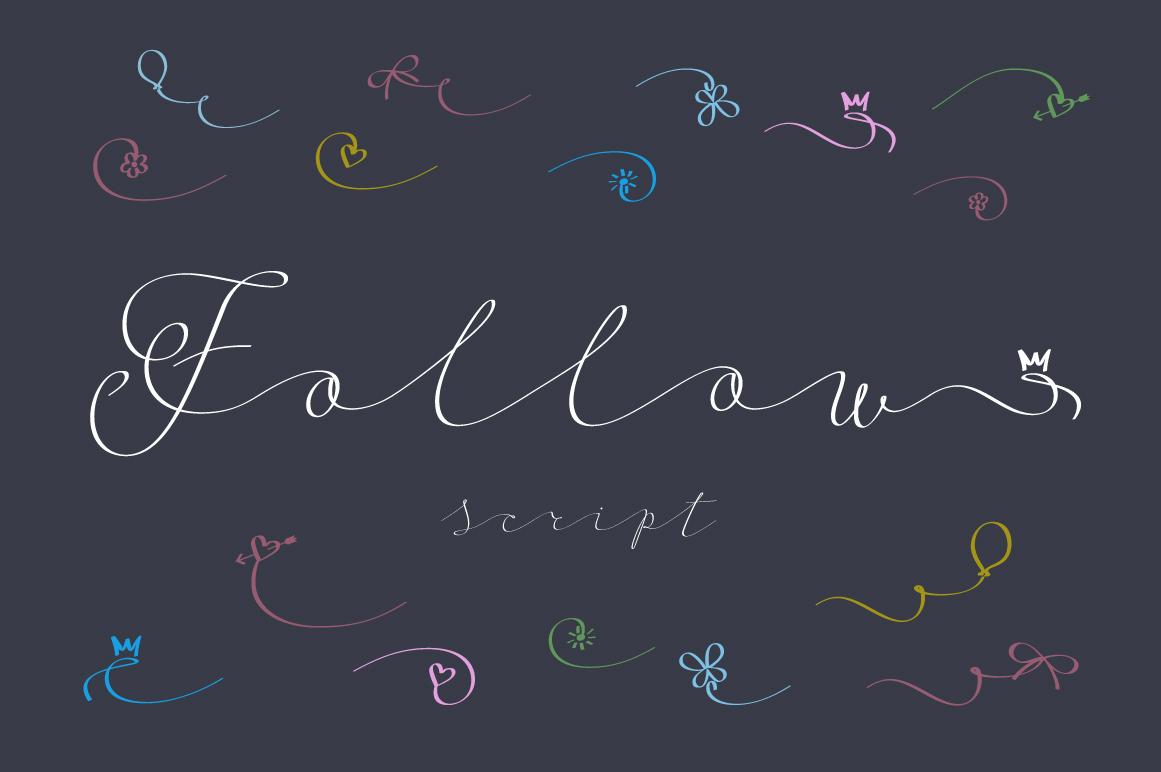 Follow script font example image 12